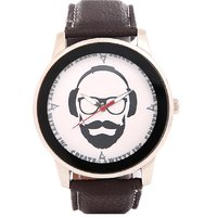 Create Awitty Inc Round Dial Black Leather Strap Quartz Watch For Men