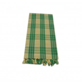 Tidy Yellow  Green Colour Checked Design Bath Towel