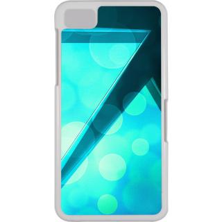 Ff (Love Angled Triangles) White Plastic Plain Lite Back Cover Case For Blackberry Z10