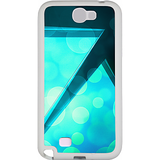 Ff (Love Angled Triangles) White Plastic Plain Lite Back Cover Case For Samsung Galaxy Note 2