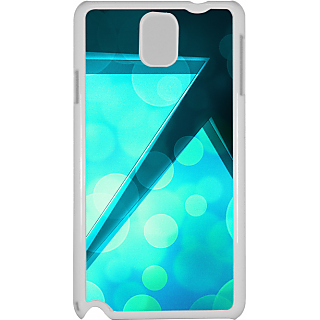 Ff (Love Angled Triangles) White Plastic Plain Lite Back Cover Case For Samsung Galaxy Note 3