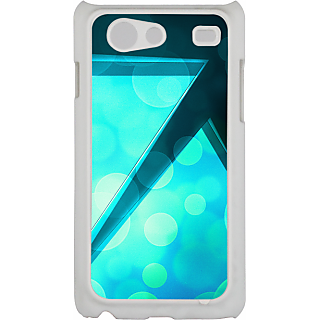 Ff (Love Angled Triangles) White Plastic Plain Lite Back Cover Case For Samsung Galaxy S Advance
