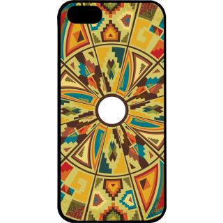 Ff (Kaleidoscope) Black Plastic Plain Lite Back Cover Case For   5S