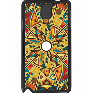 Ff (Kaleidoscope) Black Plastic Plain Lite Back Cover Case For Samsung Galaxy Note 3