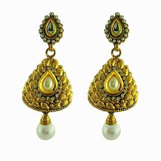 Dg Jewels Golden Hanging Earrings-ER043