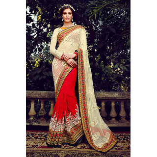 Ethnicbasket Purple Brocade Embroidered Saree With Blouse