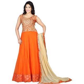 Florence Orange New shoot  Georgette Embroidered Suit (SB-2419)