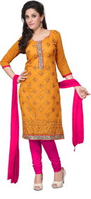 Florence Clothing Company Red Polycotton Lace Salwar Suit Material Dress Material (Unstitched)