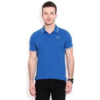 Kappa Blue Cotton Blend Polo T-shirts