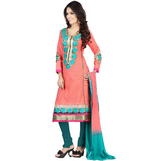 Florence Pink Aaina Cotton Embroidered Suit (SB-2121-APR)