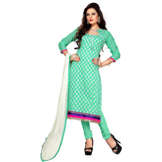 Florence Green lovely Chanderi Cotton Embroidered Suit (SB-2586) (Unstitched)