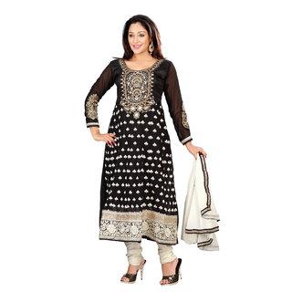 Florence Black Diwali Embroidered Georgette  Suit (SB-1759-APR)