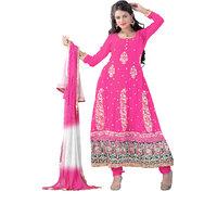 Florence Pink Madhubala Georgette Embroidered Suit (SB-2485)