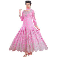 Florence Pink Raja Tex Georgette Embroidered Suit (SB-2634)