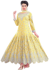 Florence Yellow Raja Tex Georgette Embroidered Suit (SB-2635)