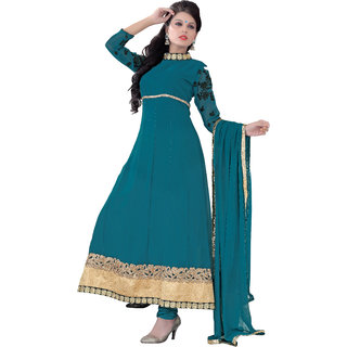 Aaina Blue Unstitched Kota Suit