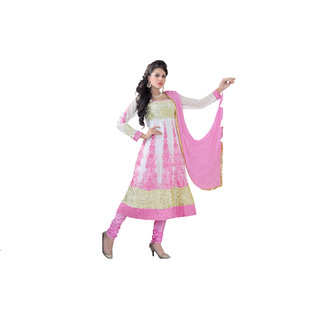 Florence Pink Madhubala Georgette Embroidered Suit (SB-2479) (Unstitched)