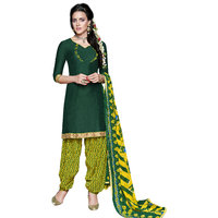 Florence Green Rani Prints - Patiyala-8 Poly cotton Embroidered Suit (SB-2401)