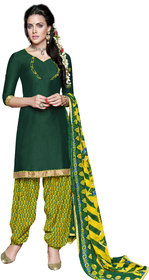 Florence Green Rani Prints - Patiyala-8 Poly cotton Embroidered Suit (SB-2401) (Unstitched)