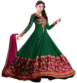 Florence Green Raja Tex  Georgette Embroidered Suit (SB-2511)