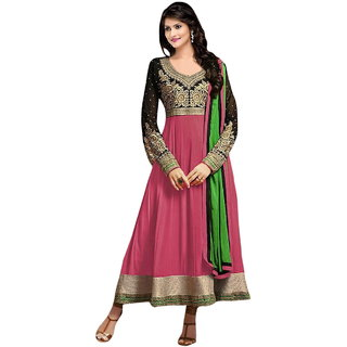 Florence Pink Raja Tex  Georgette Embroidered Suit (SB-2518)
