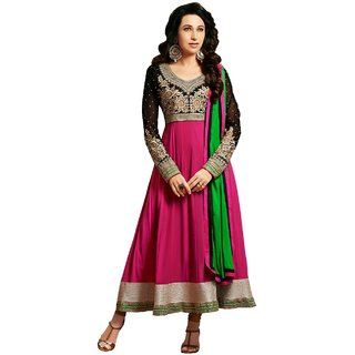 Florence Pink Raja Tex  Georgette Embroidered Suit (SB-2518-MAY) (Unstitched)