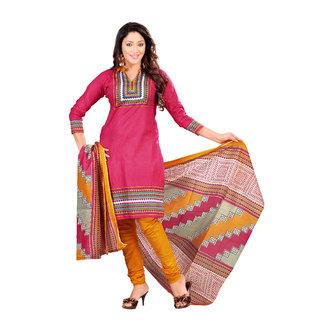 Florence Pink Ganesha Vol-09 Cotton Printed  Suit (SB-2034-APR)