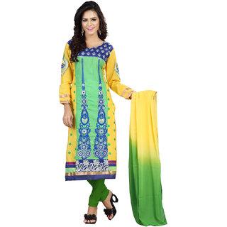 Florence Multi  Jhalak Cotton Embroidered Suit (SB-2060-APR)
