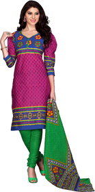 Florence Rani  Green ANANYA VOL-2 Cotton Printed Suit (SB-2678) (Unstitched)