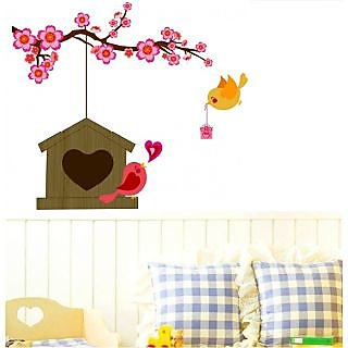 Asmi Collections Wall Stickers Wall Stickers love birds (Asmi001)