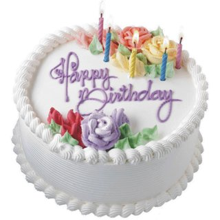 Buy Rosenpetals Vanilla Birthday Cake Online