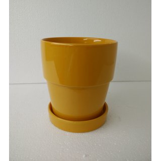 Small Ceramic Planters Yellow