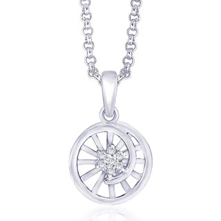 Taraash Elegant Pendant With Cz 925 Sterling Silver For Women Pd1390R