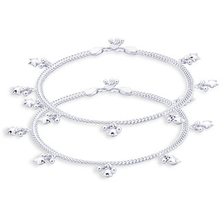 Taraash Charms 925 Sterling Silver Anklet For Women An0825S