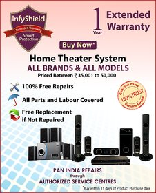 InfyShield Extended Warranty for 1 Year on Home Theater Priced Between 35,000- to 50,000-