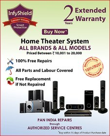 InfyShield Extended Warranty for 2 Years on Home Theater Priced Between 10,000- to 20,000-