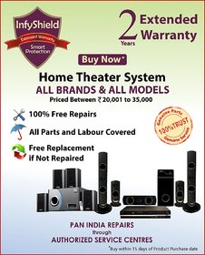 InfyShield Extended Warranty for 2 Years on Home Theater Priced Between 20,000- to 35,000-