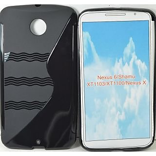 Totta S-line Silicone Back Case Cover For Motorola Nexus 6 BLACK