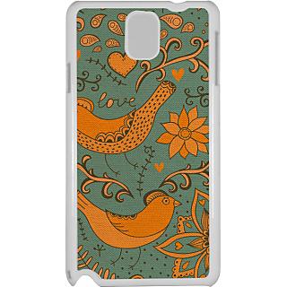 Ff (Ekk Main aur Ekk Tu) White Plastic Plain Lite Back Cover Case for Samsung Galaxy Note 3