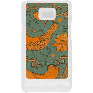 Ff (Ekk Main aur Ekk Tu) White Plastic Plain Lite Back Cover Case for Samsung Galaxy S2