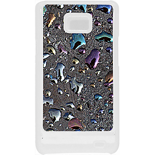 Ff (Drop me a metal) White Plastic Plain Lite Back Cover Case for Samsung Galaxy S2