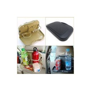 AutoSun Car Meal Plate Drink Cup Holder Tray  sc 1 st  ShopClues.com : plate with cup holder - pezcame.com