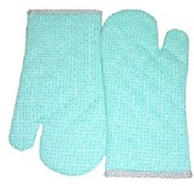 Tidy Green Colour Cotton Micro Oven Gloves - Set of 2Pcs