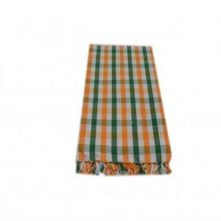 Tidy Multi Colour Checked Design Cotton Bath Towel