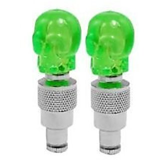 New Flashing Flash Wheel Lights For All Bikes / Cars - COLOUR GREEN