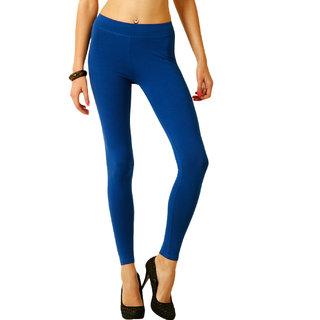 Blue Cotton Lycra Legging