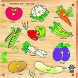 Skilofun King Size Identification Tray With Knobs Vegetables