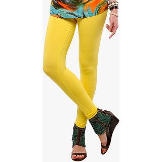 Yellow Cotton Lycra Legging