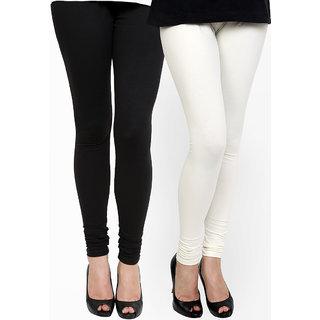 Black and White Cotton Lycra Legging
