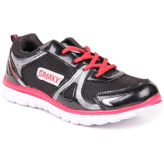 Galaxy Men's Stylish Black Sport's Shoes GLX-01 Blk